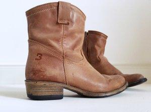 Vintage Cowboystiefeletten im Used-Look