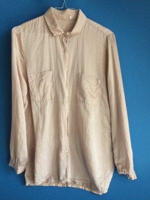 Vintage Cream Silk Blouse