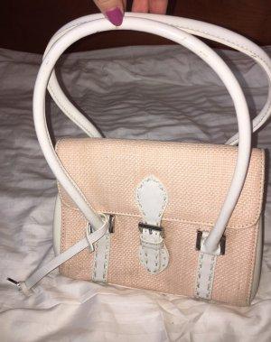 Vintage cremefarbenen Handtasche