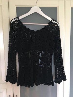 Vintage Crochet top schwarz