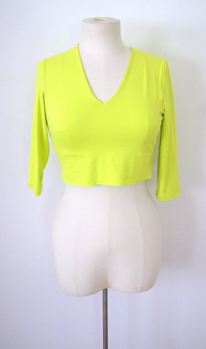 Vintage crop Shirt neon, 80er Sweat bauchfrei, Festival grunge blogger