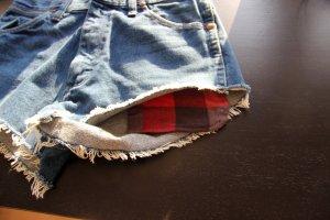 Wrangler Pantalón corto de tela vaquera rojo oscuro-azul acero