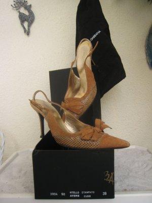 Vintage D & G Bezaubernde Luxus Schlangen Schühchen Elegant & Edel NP 440 €