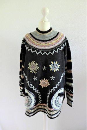 Vintage Pull norvégien multicolore