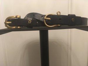 Aigner Cinturón de cuero negro