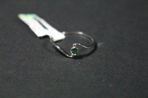 Anello d'oro bianco-verde