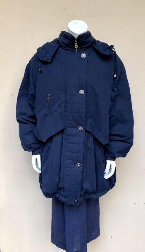 Vintage Manteau en duvet bleu-doré fibre textile