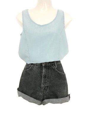 Vintage Denim Jeans Top Shirt Hellblau Long Sommer