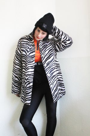 Vintage Designer 100% Silk Abstract Coat