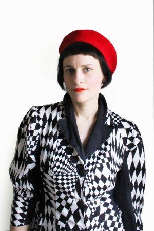 Vintage Designer Lauchère Paris Wool Beret