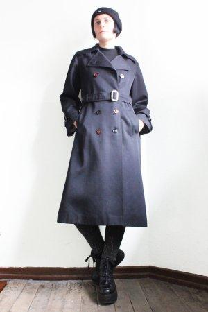 Vintage Designer Oversize Minimalist Blue Trench Coat