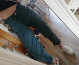 Diesel Pantalon boyfriend vert foncé-kaki