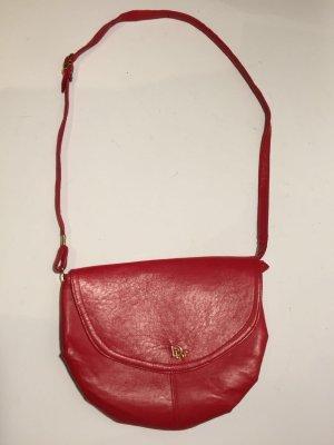 Vintage Dior Handtasche rotes Leder