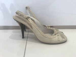 Christian Dior Slingback Pumps natural white leather