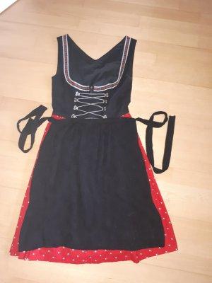 Dirndl black-dark red