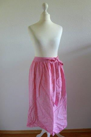 Vintage Dirndl Dirndlschürze midi pink weiß millefleur 60er 70er Gr. 38 40 42