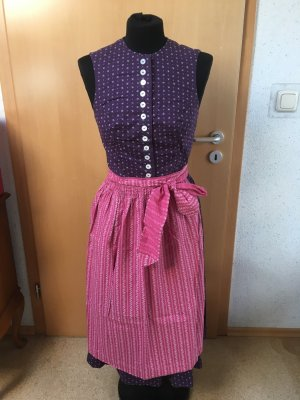 Vintage Dirndl in lila und pink