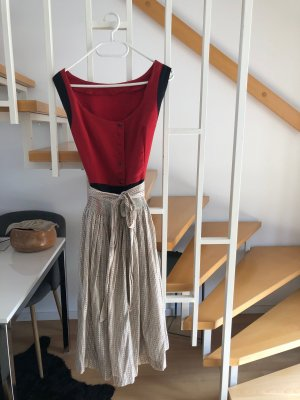 Vintage-Dirndl, Leinen, Gr. 42