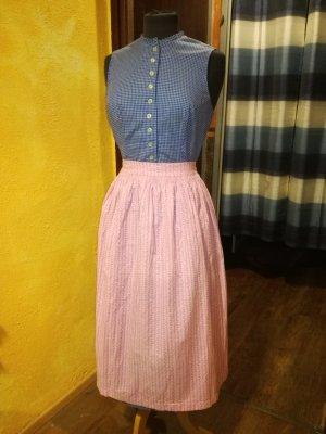 Salzburger Dirndl Vestido Dirndl rosa claro-azul