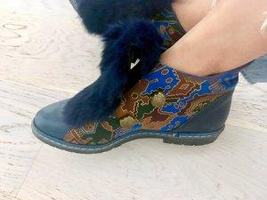 beclaimed vintage Lage schoenen donkerblauw