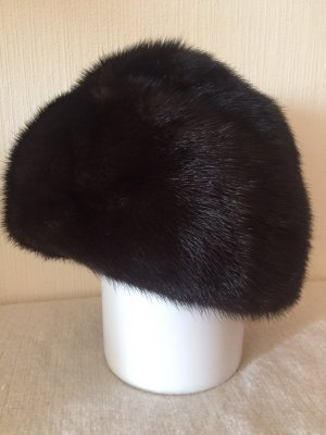 Vintage Fur Hat black brown-dark brown fur