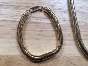 Cadena de cuentas color bronce-color oro