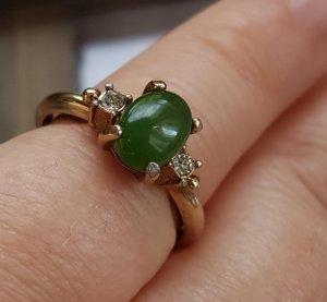 Vintage echt gold Ring mit Diamanten