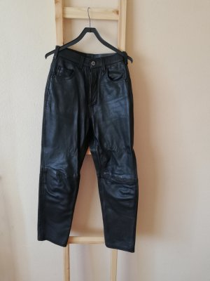 Vintage Leather Trousers black