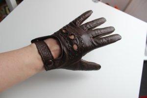 Vintage Echtleder Autofahrerhandschuhe