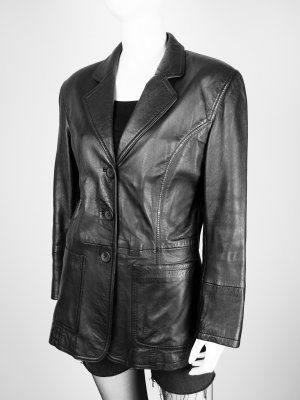 David Moore Leather Jacket black leather