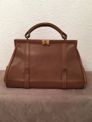 Carry Bag brown-bronze-colored leather
