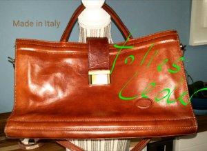 Made in Italy Handtas cognac Leer