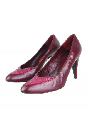 High Heels bordeaux leather