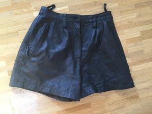 Vintage Echtleder Leder Highwaist Shorts Taille XS S 36