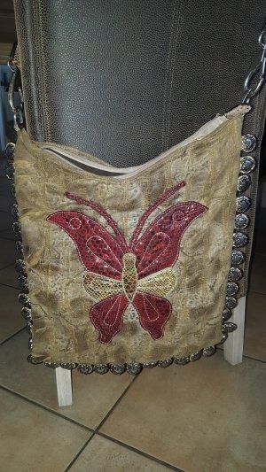 Crossbody bag sand brown-dark brown