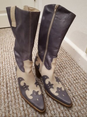Destroy Botas estilo vaquero blanco puro-violeta grisáceo