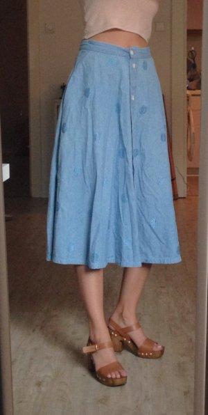 Vintage Emporio Armani High Waist Taillen Jeansrock
