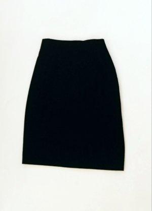 Escada Falda de talle alto negro