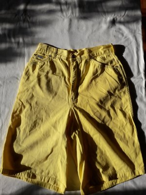 vintage escada shorts sonnengelb high waisted