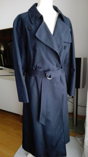 Escada Sport Trench Coat dark blue cotton
