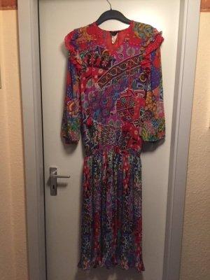 Vintage Ethno Kleid Rüschen Gr. 40