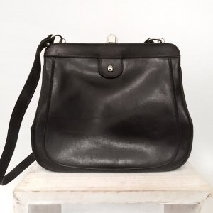 Vintage Etienne Aigner Tasche Handtasche Echtes Leder Ledertasche Blogger