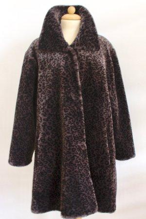 "Vintage"" fake fur "" Leo -Muster Mantel"