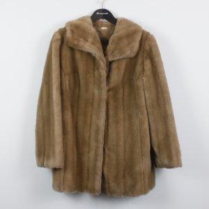 Vintage Fake Fur Mantel Gr. M/L hellbraun (18/12/085)