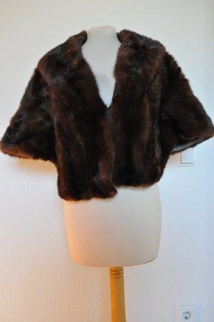 Vintage Fell Cape, Nerz, braun, fur, boho, grunge