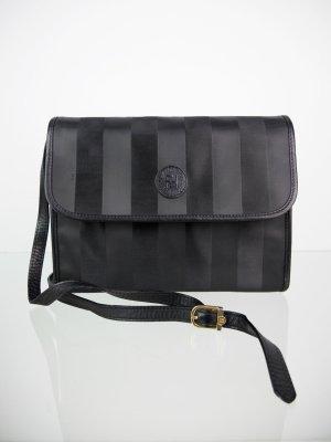 Vintage FENDI Umhängetasche schwarz gestreift