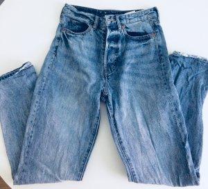 H&M Jeans a vita alta blu acciaio Tessuto misto
