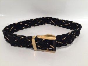 Cintura intrecciata nero-oro