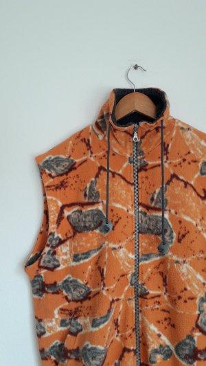 Vintage Fleece Vest grey-light orange