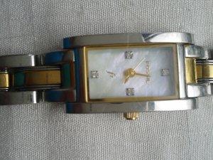 Vintage Fossil Uhr bicolor
